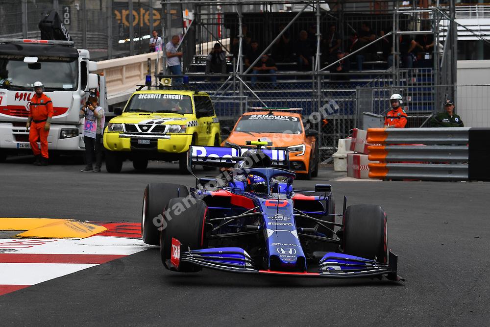 Alexander Albon (Toro Rosso-Honda) during practice before the 2019 Monaco Grand Prix. Photo: Grand Prix Photo