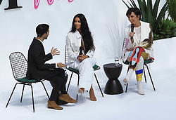 June 18, 2018 - Los Angeles, California, USA - 6/18/18.Imran Amed, Kim Kardashian West and Kris Jenner speak onstage during the ''Creating Cultural Moments'' panel at the BoF West Summit at Westfield Century City, CA. (Credit Image: © Starmax/Newscom via ZUMA Press)
