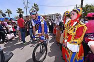 Start, Maximiliano Ariel RICHEZE (ARG), Fans, Public, Traditional dress, during the 100th Tour of Italy 2017, Giro d'Italia, Stage 1, Alghero - Olbia (206km), on May 5, in Sardegna, Italy - Photo Tim De Waele / ProSportsImages / DPPI