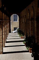 Italian walkway loggia in the sunshine
