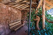 Santa Maria Spring shade house on  Hermit Trail. Grand Canyon National Park, Arizona, USA.