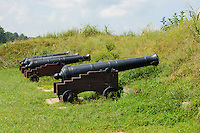 Revolutionary war cannon at Yorktown Battlefield National Park.