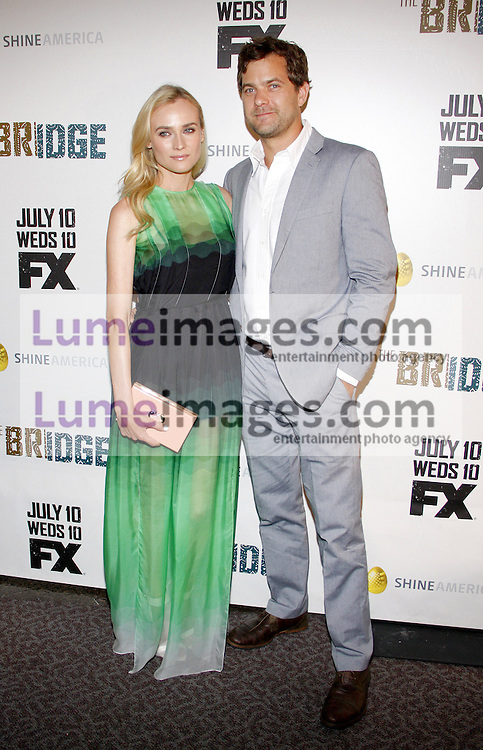 """Diane Kruger and Joshua Jackson at the Los Angeles Premiere of """"The Bridge"""" held at the DGA Theatre in Hollywood, USA on July 8, 2013."""