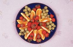 Plate of fruit salad,