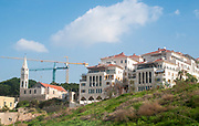 Construction of a new modern Housing project overlooking the Jaffa port, Israel