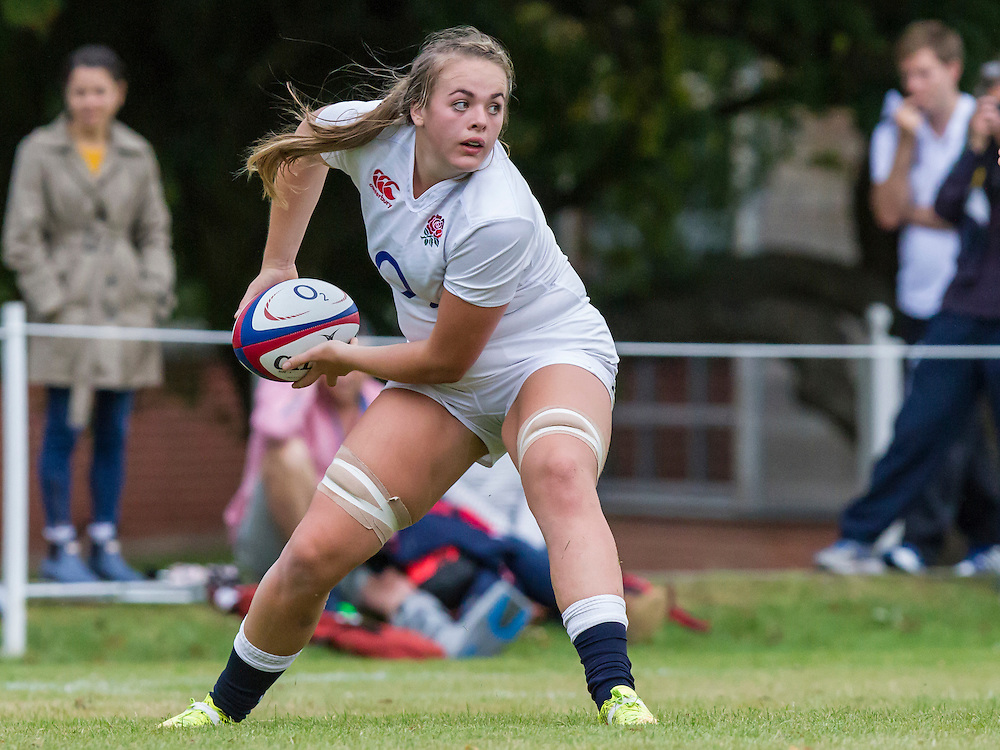 Molly Morrissey in action, U20 England Women v U20 Canada Women at Trent College, Derby Road, Long Eaton, England, on 22nd August 2016