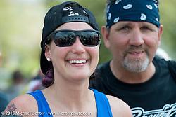 "Jody Perewitz at Willie's Tropical Tattoo ""Old School Show"" during Daytona Beach Bike Week 2015. FL, USA. March 12, 2015.  Photography ©2015 Michael Lichter."