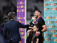 Rugby Union - 2019 Rugby World Cup - Bronze Final (Third Place Play-Off): New Zealand vs. Wales<br /> <br /> New Zealand's Kieran Read interviewed after the game, at Tokyo Stadium, Tokyo.<br /> <br /> COLORSPORT/ASHLEY WESTERN