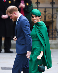 The Duke and Duchess of Sussex arriving at the Commonwealth Day Service, Westminster Abbey, London. Picture credit should read: Doug Peters/EMPICS