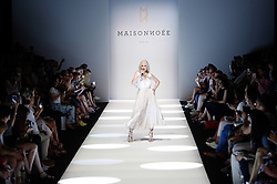 July 3, 2018 - Berlin, Germany - A models introduces Spring/Summer 2019 Maisonnoee collection of during the first day of MBFW Berlin Fashion Weak in the ewerk showspace in Berlin, Germany on July 3, 2018. (Credit Image: © Dominika Zarzycka/NurPhoto via ZUMA Press)