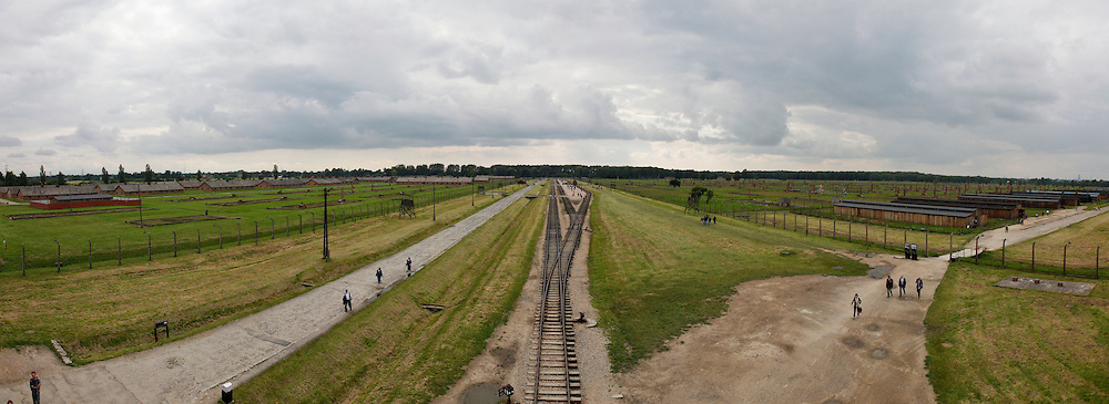 A Panorama  from the top floor of the main gate building in Auschwitz-Birkenau Concentration Camp in Poland on Tuesday July 5th 2011.  (Photo by Brian Garfinkel)