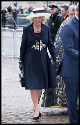 March 12, 2018 - London, London, United Kingdom - Image licensed to i-Images Picture Agency. 12/03/2018. London, United Kingdom. Duchess of Cornwall  arriving at the  Commonwealth Day Service at Westminster Abbey in London. (Credit Image: © Stephen Lock/i-Images via ZUMA Press)