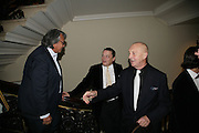 David Tang, Norman Rosenthall and Georg Baselitz, Georg Baselitz, Royal Academy. 18 September 2007. -DO NOT ARCHIVE-© Copyright Photograph by Dafydd Jones. 248 Clapham Rd. London SW9 0PZ. Tel 0207 820 0771. www.dafjones.com.