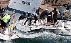 Minoprio vs Iehl  - Stena Match Cup Sweden 2010, Marstrand - Sweden. World Match Racing Tour. photo: Loris von Siebenthal - myimage