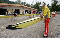 Chinese Boat at Rowing World Cup  on May 30, 2010, at Bled's lake in Mala Zaka, Bled, Slovenia. (Photo by Vid Ponikvar / Sportida)