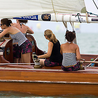 41st Blue Ribbon Regattta race along the 160 km course around Lake Balaton near Balatonfured, 150 km (93 miles) west of Budapest. Hungary. Friday, 03. July 2009. ATTILA VOLGYICompetition time record holder ship Nemere II started with a dozen of female crewmemberts. 41st Blue Ribbon Regattta race along the 160 km course around Lake Balaton near Balatonfured, 150 km (93 miles) west of Budapest. Hungary. Friday, 03. July 2009. ATTILA VOLGYI