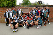 Photo: Richard Lane.<br /> New Zealand Maori training at Rugby School. Barclays Churchill Cup 2007. 21/05/2007.<br /> New Zealand Maori at the spot where William Webb-Ellis picked up the ball to create the game of Rugby Union.