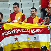 Galatasaray's supporters during their Turkish soccer superleague match Istanbul BBSpor between Galatasaray at the Ataturk Olympic stadium in Istanbul Turkey on Sunday 11 September 2011. Photo by TURKPIX
