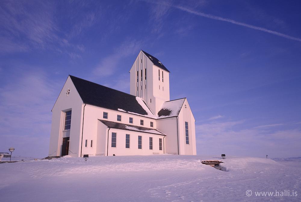 Skálholtskirkja að vetri til / The church, Skalholtskirkja