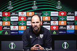 Ante Simundza, head coach of NS Mura during press conference after football match between NS Mura and Rennes (FRA) in group stage of UEFA Europa Conference League 2021/22, on 20 of October, 2021 in Ljudski Vrt, Maribor, Slovenia. Photo by Blaž Weindorfer / Sportida