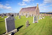 Church and churchyard, Sandness, Mainland, Shetland Islands, Scotland