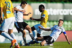 Ovbokha Agboyi of NK Bravo vs Darko Misic of NK Koper during football match between NK Bravo and NK Koper in 4th Round of Prva liga Telekom Slovenije 2020/21, on September 19, 2020 in Sport park ZAK, Ljubljana, Slovenia. Photo by Grega Valancic / Sportida