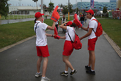 June 19, 2017 - Sochi - Of The Russian Federation. Sochi. The Stadium Fischt. Sochi is preparing for the first match of the Confederations Cup. Before the match Australia - Germany.. Volunteer. (Credit Image: © Russian Look via ZUMA Wire)