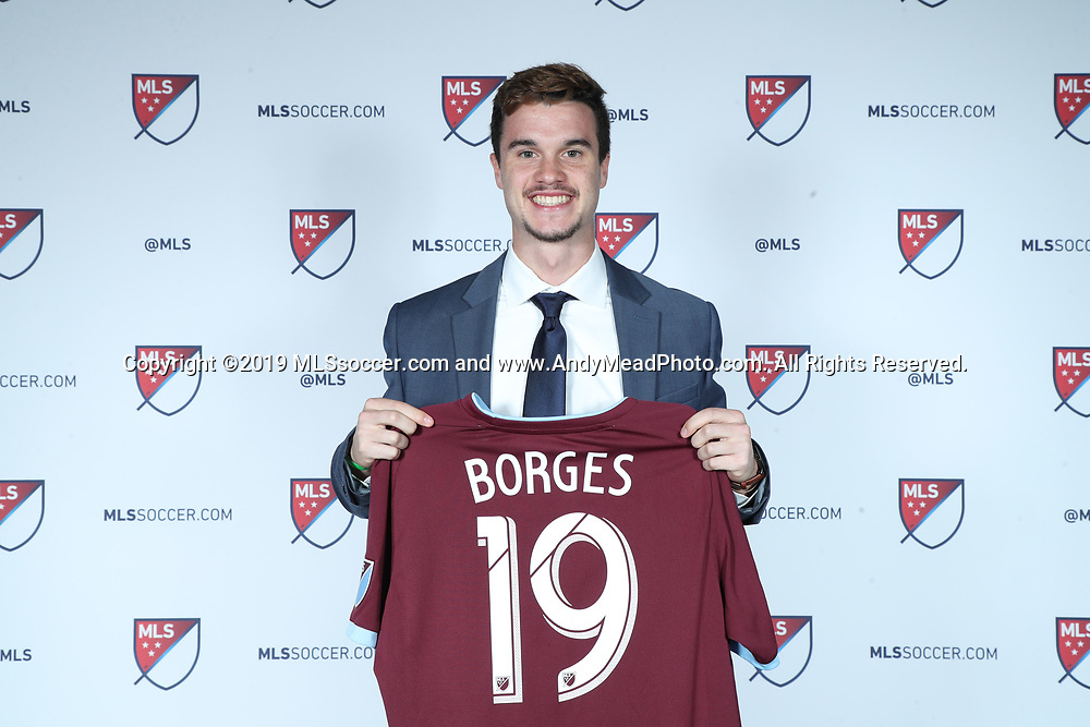 CHICAGO, IL - JANUARY 11: Marcello Borges was taken with the 28th overall pick by the Colorado Rapids. The MLS SuperDraft 2019 presented by adidas was held on January 11, 2019 at McCormick Place in Chicago, IL.