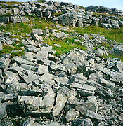 Scree slope and limestone scar, Yorkshire Dales national park, Yorkshire, England