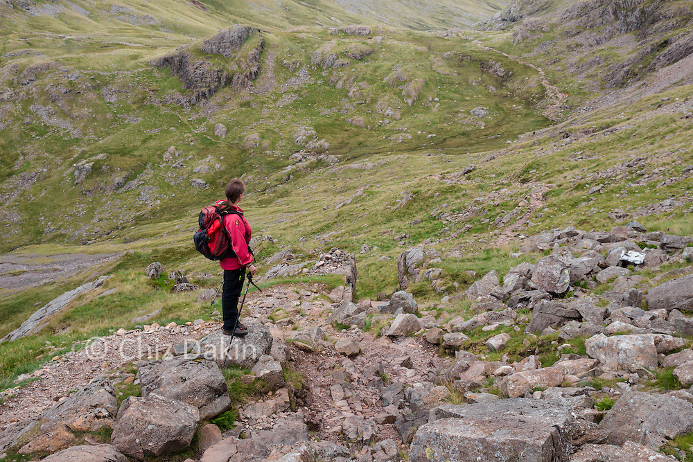 Looking down the Corridor Route from above Skew GIll