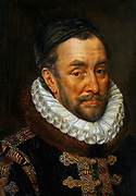 William I (1533-1584), Prince of Orange, called William the Silent. Portrait by Adriaen Thomasz. Key (1554–1609)  Netherlands painter and draughtsman. ca. 1570-1584 (1559-1609) Oil on panel