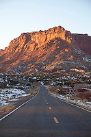Scenic image of highway 24 in Capitol Reef National Park.