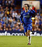 Photo: Chris Ratcliffe.<br />Chelsea v Anderlecht. UEFA Champions League.<br />13/09/2005.<br />Ricardo Carvalho is finally allowed to play a game for Chelsea this season