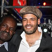 NLD/Amsterdam/20080426 - Uitreiking 3FM Awards 2008, Alain Clark en zijn vader Dane Clark