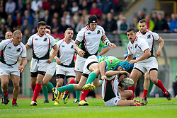 Rugby match between National team of Slovenia (green) and Bulgaria (white) at EUROPEAN NATIONS CUP 2012-2014 of C group 2nd division, on April 12, 2014, at ZAK Stadium, Ljubljana, Slovenia. (Photo by Matic Klansek Velej / Sportida.com)