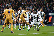 GOAL  :  Dele Alli of Tottenham Hotspur scores his teams 1st goal to equalise at 1-1.  . Premier league match, West Bromwich Albion v Tottenham Hotspur at the Hawthorns stadium in West Bromwich, Midlands on Saturday 15th October 2016. pic by Andrew Orchard, Andrew Orchard sports photography.