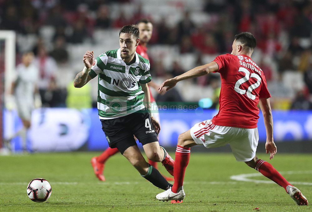 February 7, 2019 - Na - Lisbon, 06/02/2019 - SL Benfica received this evening the Sporting CP in the Stadium of Light, in game the account for the first leg of the Portuguese Cup 2018/19 semi final. Coates  (Credit Image: © Atlantico Press via ZUMA Wire)