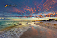 Sunset clouds over the Gulf of Mexico on Sanibel Island in Florida, USA