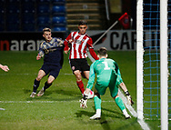 Leo Gaxha of Sheffield Utd breaks through to provide the assist for the equalising goal during the Professional Development League  match at the Proact Stadium, Chesterfield. Picture date: 3rd February 2020. Picture credit should read: Simon Bellis/Sportimage