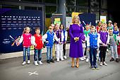 Koningin Maxima brengt een bezoek aan het Eurovisie Songfestival