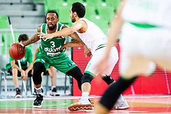 during basketball match between KK Cedevita Olimpija and Darussafaka Tekfen Istanbul in 1st Round of Eurocup 2019/20, on October 2, 2019 in Arena Stozice, Ljubljana, Slovenia. Photo by Vid Ponikvar / Sportida