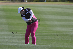 March 22, 2019 - Phoenix, AZ, U.S. - PHOENIX, AZ - MARCH 22: Shanshan Feng hits an approach shot on the 16th hole during the second round of the Bank of Hope LPGA Golf Tournament at the Wildfire Golf Club at JW Marriott Phoenix Desert Ridge Resort & Spa, March 22, 2019 in Phoenix, Arizona (Photo by Will Powers/Icon Sportswire) (Credit Image: © Will Powers/Icon SMI via ZUMA Press)