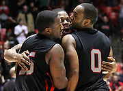 during the second half of an NCAA college basketball game in Salt Lake City, Thursday, Jan. 5, 2012. (AP Photo/Colin E Braley)