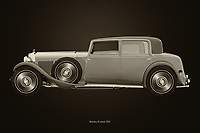 Black and white version of the legendary Bentley 8 liters from 1931<br />
