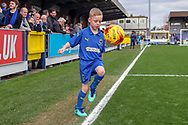 Mascot during the EFL Sky Bet League 1 match between AFC Wimbledon and Gillingham at the Cherry Red Records Stadium, Kingston, England on 23 March 2019.