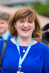 © Licensed to London News Pictures. 01/10/2019. Manchester, UK. MP Nicky Morgan at the Conservative Conference today on the third day of the Conservative Party Conference at Manchester Central in Manchester. Photo credit: Andrew McCaren/LNP