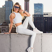 Rooftop shoot with LA model, Julia Sam. Images made at FD Photo Studios Rooftop on April 13, 2018 in Downtown Los Angeles, California. ©Michael Der