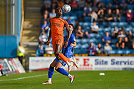 Southend United forward Theo Robinson (31) and Gillingham FC defender Luke O'Neill (2)  during the EFL Sky Bet League 1 match between Gillingham and Southend United at the MEMS Priestfield Stadium, Gillingham, England on 13 October 2018.