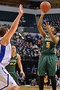 April 4, 2016; Indianapolis, Ind.; Christina Davis puts up a shot in the NCAA Division II Women's Basketball National Championship game at Bankers Life Fieldhouse between UAA and Lubbock Christian. The Seawolves lost to the Lady Chaps 78-73.