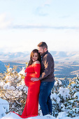 Cindy and Tyler Snowy Maternity Shoot in The Gila